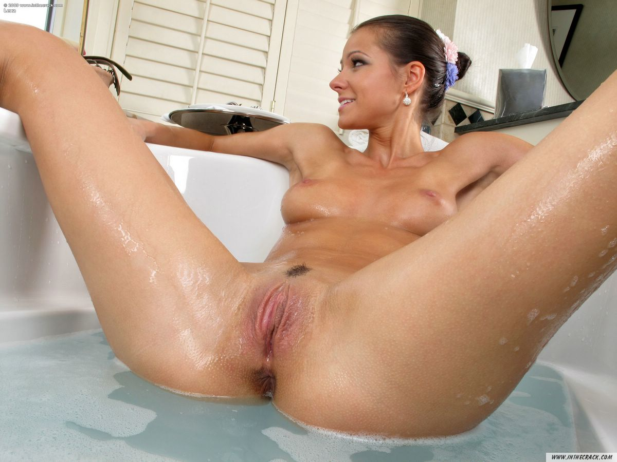 Sexy girl bathing