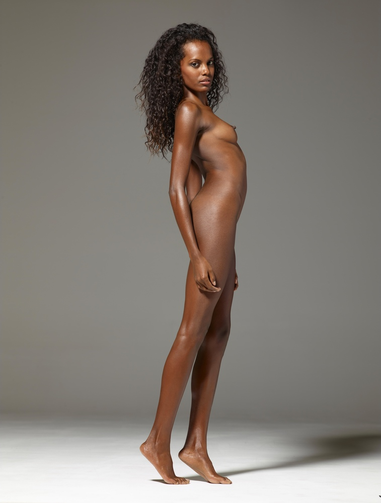 Beautiful Black Girl Posing Nude