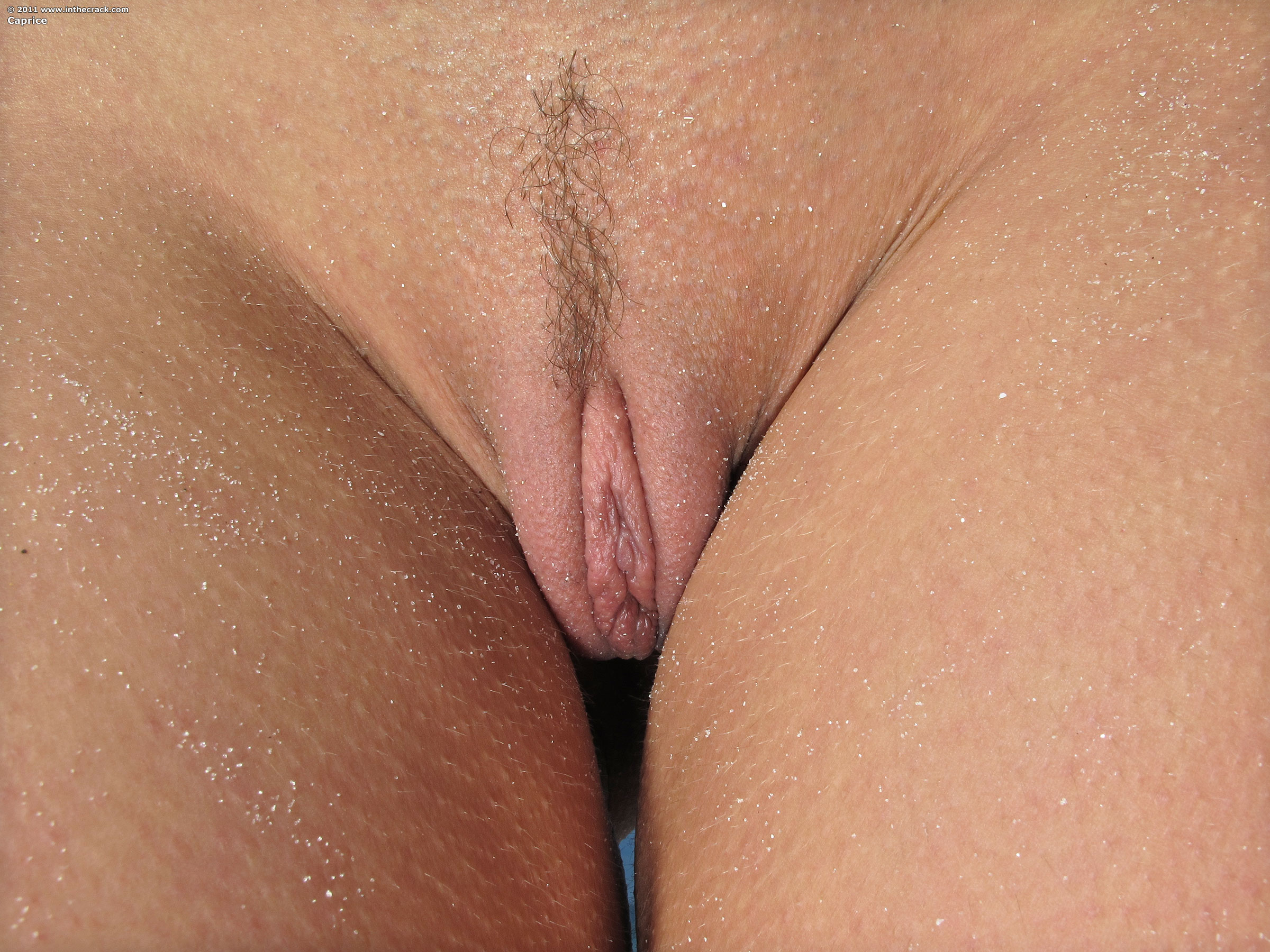 Naked girls shaved pussy close up obviously