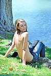 Nude girl acrobatic tricks