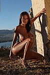 Naked girl outdoors
