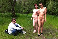 Nude Girls outdoors