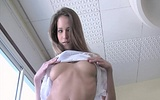 Naughty all natural model Silvie plays with her hairy pussy