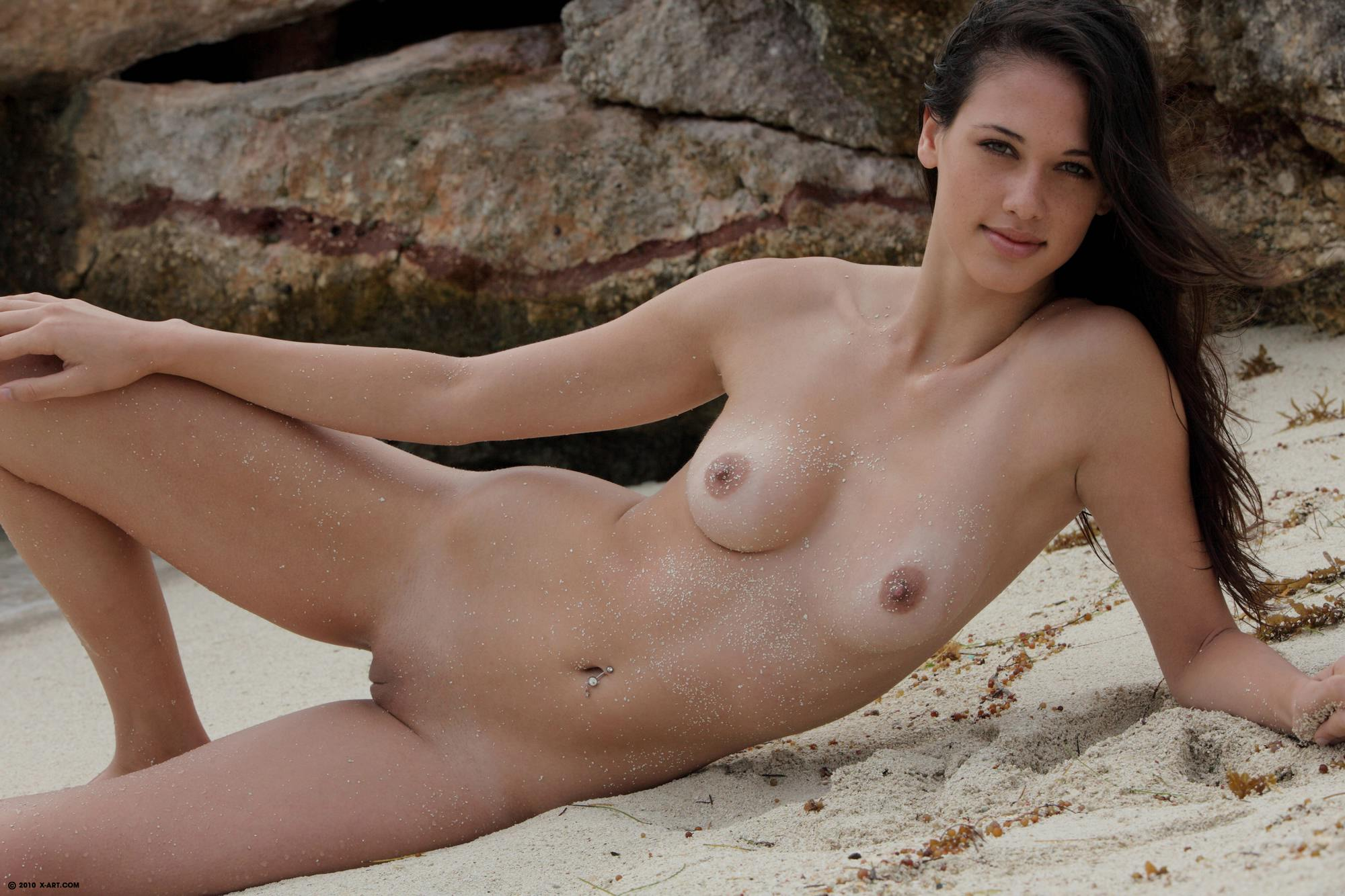 girl getting naked nudist beach